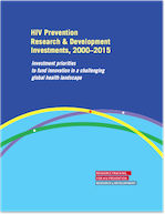 HIV Prevention Research & Development Investments, 2000-2015